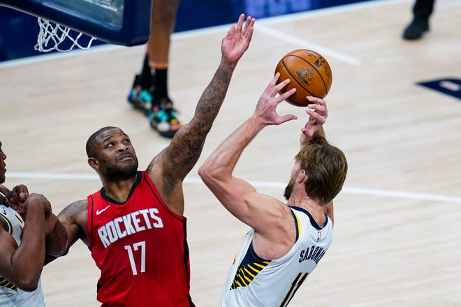 P.J. Tucker, 35, is a 6-foot-5-inch, 245-pound defensive stopper who has played the last four years for the Houston Rockets.