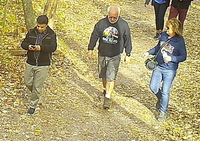 The Sauk County Sheriff's Office is asking for the public to help identifyan individualas a potential witnessto events that occurred after a Wauwatosa man was stabbed to deathat Devil's Lake State Park in Baraboo in October.Potential witnesses in the middle and on the right have been identified, but officials arestill working to identify the man on the left.