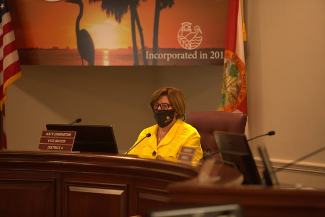 Katy Errington was elected mayor of Estero by her fellow village vouncilors during a meeting Wednesday.