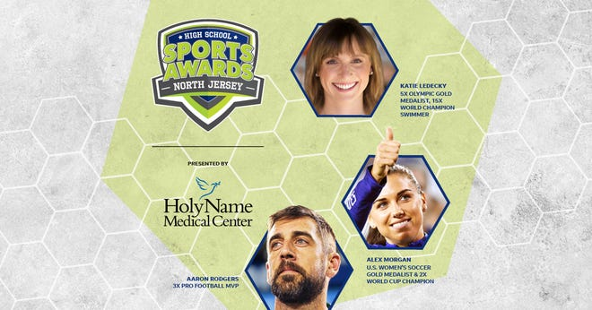 Three-time NFL MVP Aaron Rodgers, two-time FIFA World Cup Champion Alex Morgan and five-time Olympic gold medalist Katie Ledecky will be among a highly decorated group of presenters and guests in the North JerseyHigh School Sports Awards premiering this summer on USA TODAY streaming platforms and channels. 