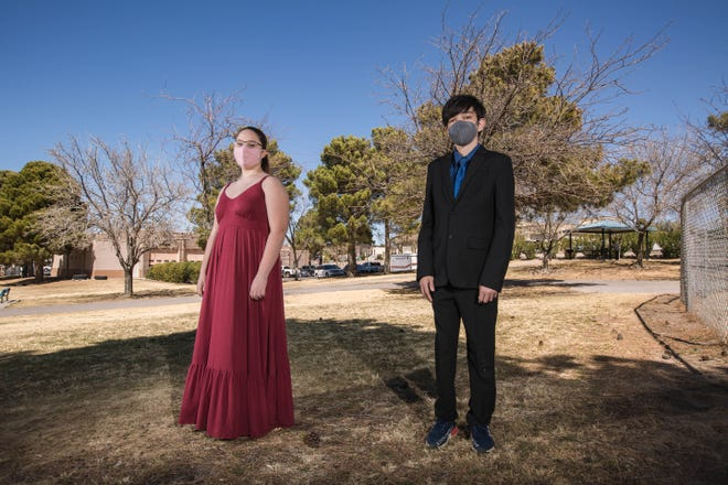 Delaney Sivils and Keyon Kamali are pictured in Las Cruces on Wednesday, March 17, 2021.