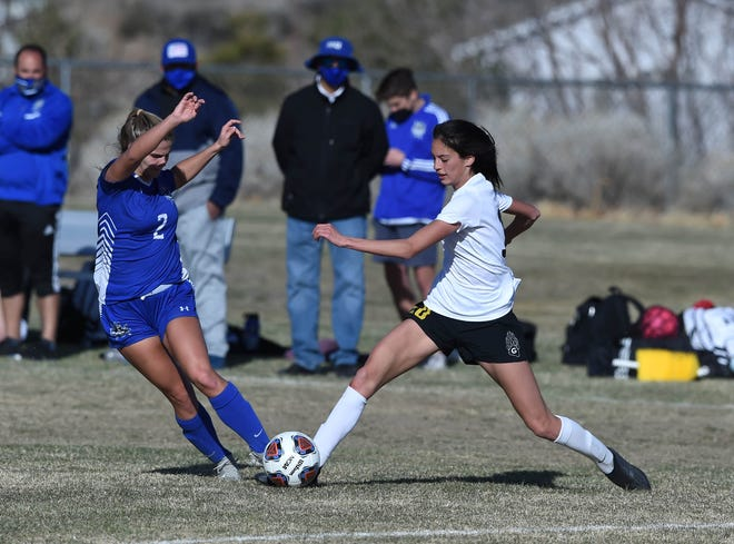 Images from the Galena at McQueen girls varsity soccer game on March 16, 2021.