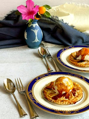 Apple Tart à la Mode is both simple to make and elegant to serve. Put it together ahead of time and bake during dinner.