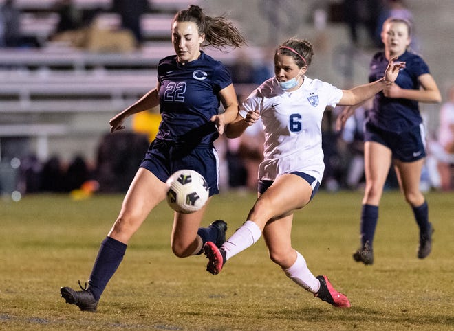 Central Valley Christian hosts Redwood in girls soccer on Tuesday, March 16, 2021.
