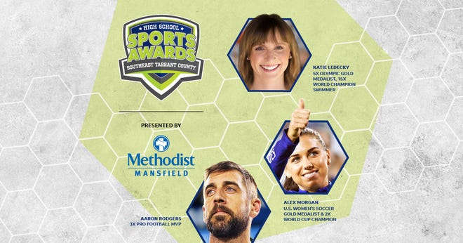 Aaron Rodgers, Alex Morgan and Katie Ledecky will be among a highly decorated group of presenters and guests in the Southeast Tarrant County High School Sports Awards.