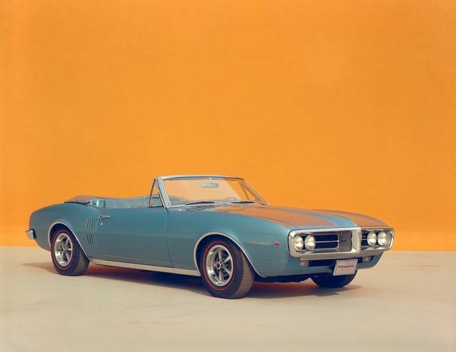 A 1967 Pontiac Firebird convertible.