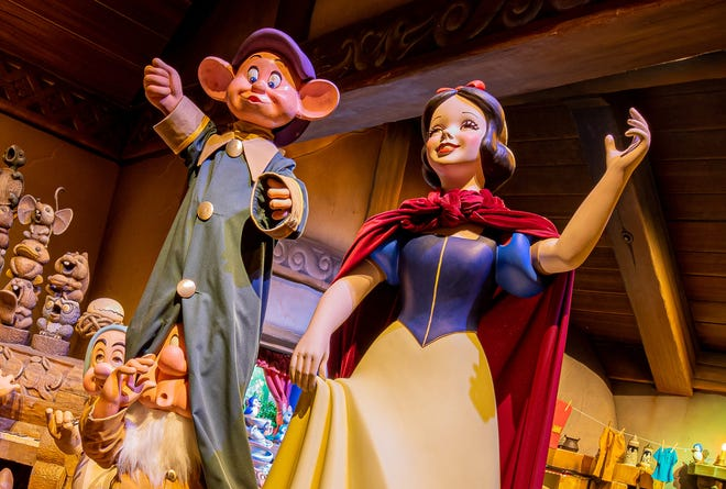 A new Snow White figure twirls in Snow White's Enchanted Wish, and update (and softening) of Snow White's Scary Adventures.