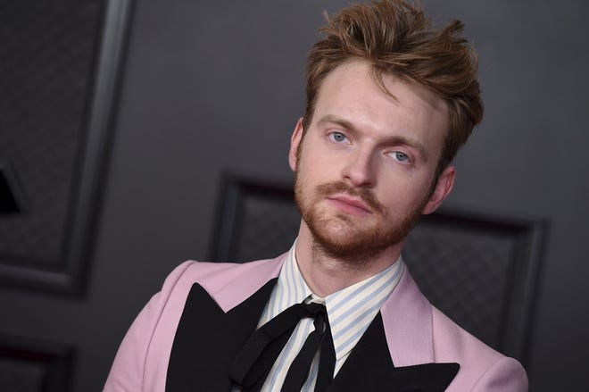 Finneas arrives at the 63rd annual Grammy Awards at the Los Angeles Convention Center on March 14.