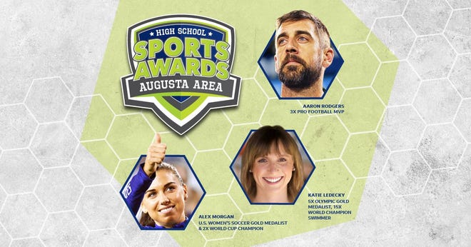 Three-time NFL MVP Aaron Rodgers, two-time FIFA World Cup Champion Alex Morgan and five-time Olympic gold medalist Katie Ledecky will be among a highly decorated group of presenters and guests for the Augusta High School Sports Awards.