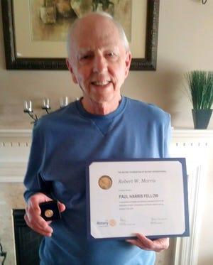 Bob Morris,presidentofRotary Club of Shady Brook, locate in Langhorne,was recentlyrecognized as aPaul Harris Fellow byRotary International.