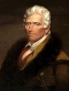 Portrait of Daniel Boone whose parents were among the first settlers in New Britain Township