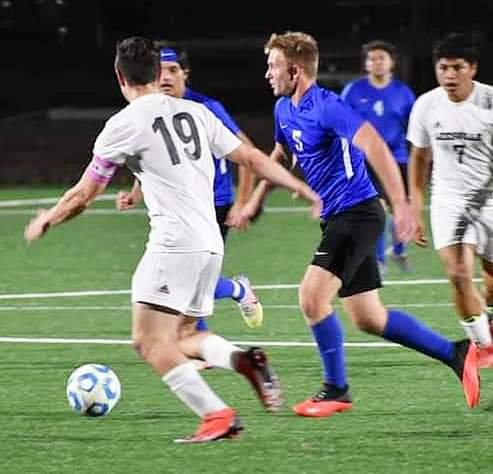 DeRidder's Sean Meyle (5) was named the Offensive MVP on the District 2-III all-district soccer team by the league coaches. He guided the Dragons to the second round of the Division III playoffs.