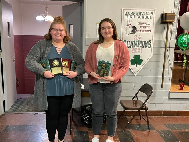 The Barnesville High School Bowling team Special Awards were presented to: Daylin Mercer, High Scratch Game, High Scratch Series, High Scratch Average and Leadership Award; and Regan Campbell, Most Improved.