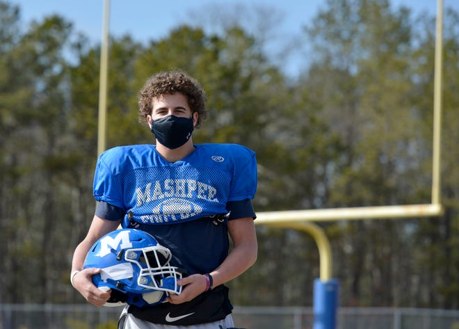 Mashpee Falcon tight end Matt Bowen says winning comes down to mental effort and determination, skills that helped him secure his team's  Week 1 win over Norwell. As the lone senior on the offensive line, he has taken on a leadership role to his fellow players.
