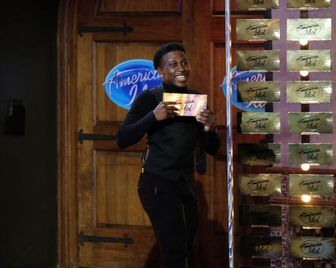 """Deshawn Goncalves proudly holds his """"golden ticket."""""""