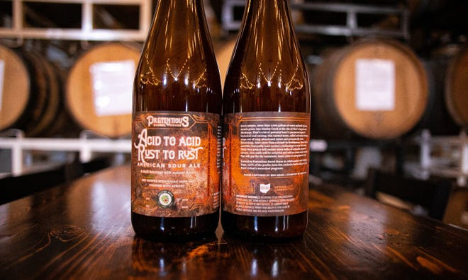 Acid to Acid, Rust to Rust is one of two limited edition Pretentious Barrel House beers intended to raise money for an Appalachian nonprofit.
