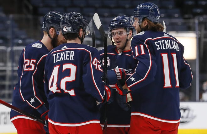 The Blue Jackets are 1-2 against Carolina this season heading into a pivotal four-game stretch. They beat the Hurricanes on Feb. 8, helped by a goal from Scott Harrington (4), but were outscored 13-8 in the other two games.
