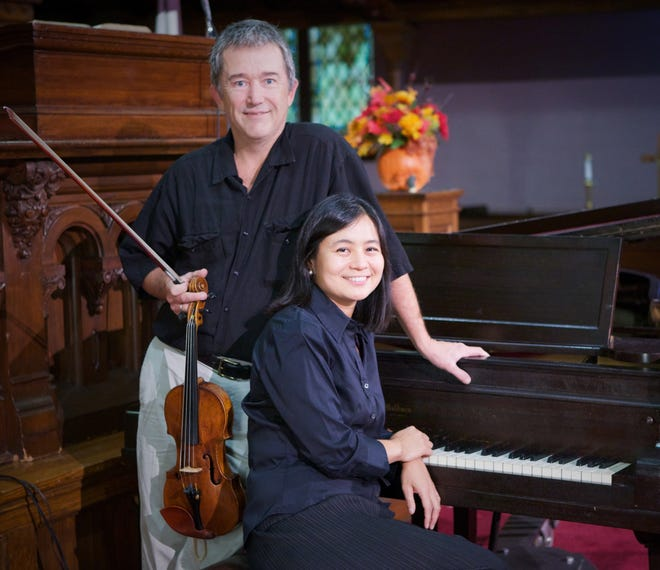 """Violinist David Niwa and pianist Mariko Kaneda will be featured in """"An Afternoon of Schubert,"""" which will be livestreamed from the Ohio History Connection at 3 p.m. Sunday."""