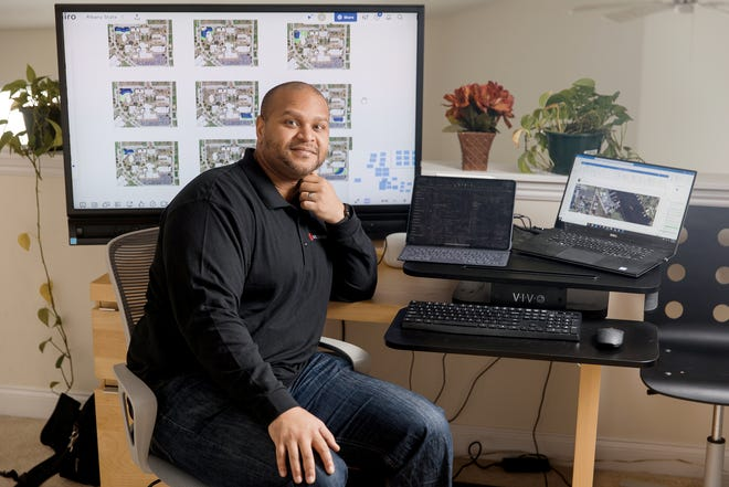 Jonathan Moody in his home office