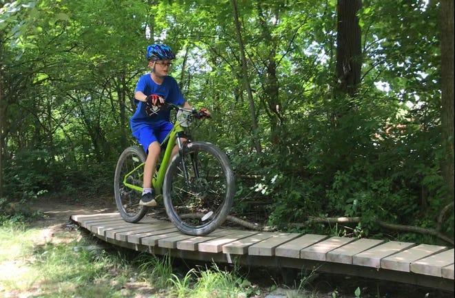 Gators Bike Park offers mountain biking trails through the woods.