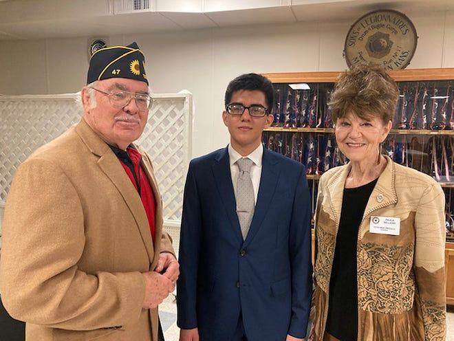 Dodge City student Hever Arjon placed second in the Kansas American Legion Oratorical Contest held Saturday, March 14, in Manhattan.