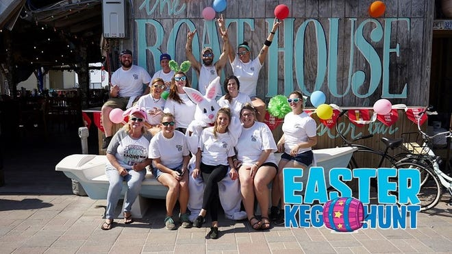 Join the Easter Keg Hunt from 10 a.m. to noon March 27 at Boathouse Oyster Bar on Harbor Boulevard in Destin.