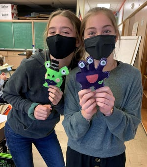 WHMS students created monsters recently.