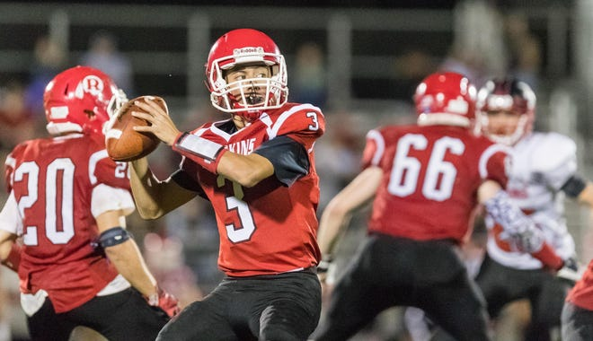Canisteo-Greenwood's Roque Santiago prepares to launch a pass down the field during a 2018 contest.