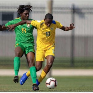 Jimson St. Louis (10), a freshman on the Southeastern Community College men's soccer team, will try to help the U.S. Virgin Islands men's national team qualify for the 2022 World Cup.