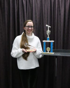 Stephanie Thanscheidt received an award of $200 and will compete in the Poetry Out Loud national finals in May.