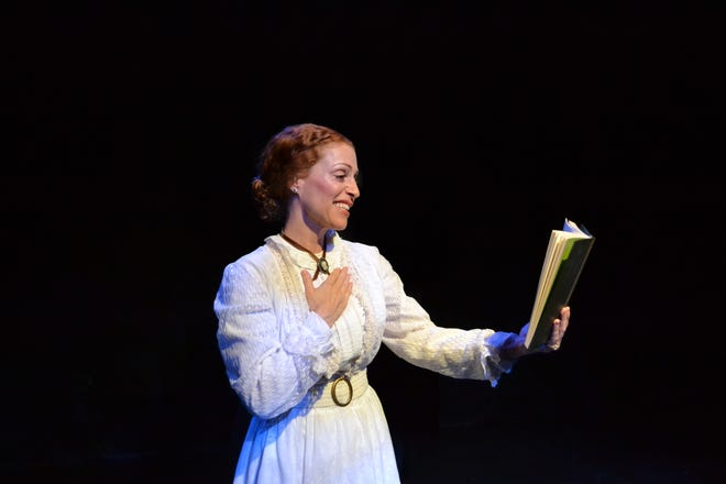 "Margery Lowe as Emily Dickinson in ""The Belle of Amherst,"" playing online from April 2-6 at Palm Beach Dramaworks."