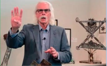 Pratt artist Dick Bixler presented a Lunch and Learn program March 5 at the Vernon Filley Art Museum and via a Zoom link, in which he featured his own metal artwork and samples of art currently part of the special Kansas-made exhibit at the museum.