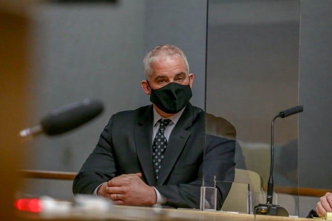 Sgt. Joseph Hanley during sentencing.