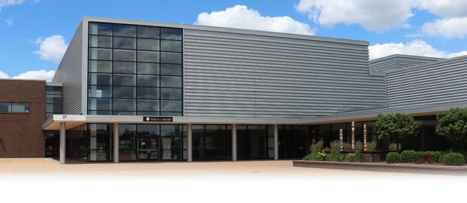 The Plain Community branch library is located on the campus of GlenOak High School in Plain Township.