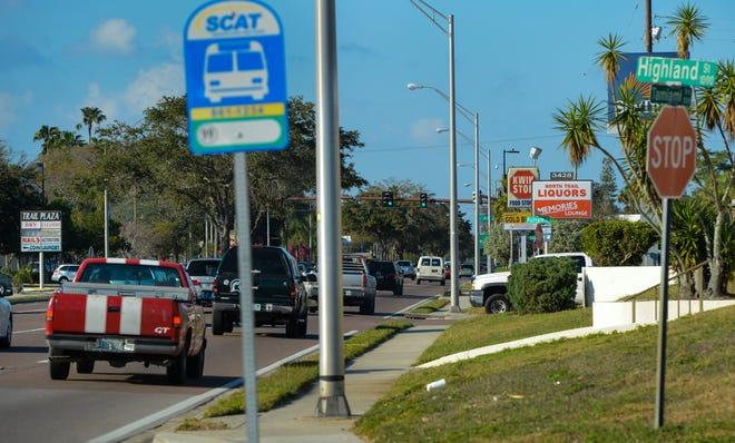 Traffic moves along U.S. 41 North near Myrtle Street in Sarasota.
