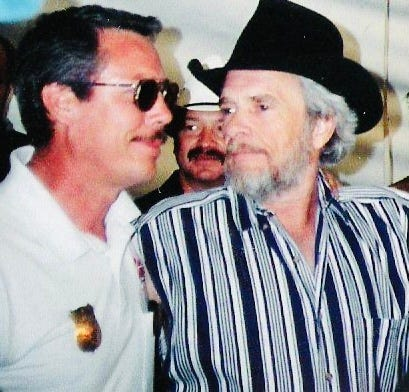 Raymond McDonald, left, first met Merle Haggard, right, in 1964 while they were both living in Oildale, Calif.