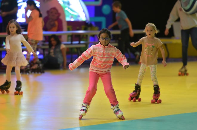 Young roller skaters at Roll On America in 2018. The center will close next month.