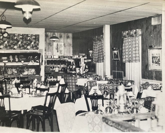This undated photo shows the interior of the Zoar Hotel when it operated as a restaurant.