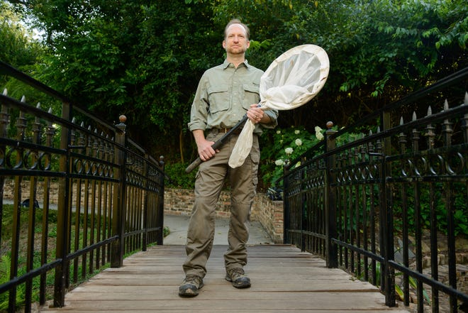 "University of Alabama entomologist John Abbott says a ""historic"" swarm of cicadas is coming this spring. [Photo by the University of Alabama]"
