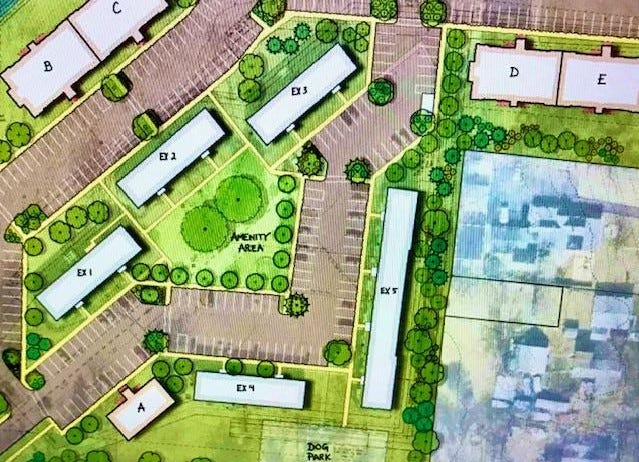 The owner of the Oaks of Kenwood housing complex wants to tear down two townhomes and add 52 apartments to 66 already there.
