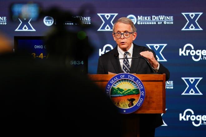 Gov. Mike DeWine joined fellow GOP governors in slamming President Joe Biden's border policy.