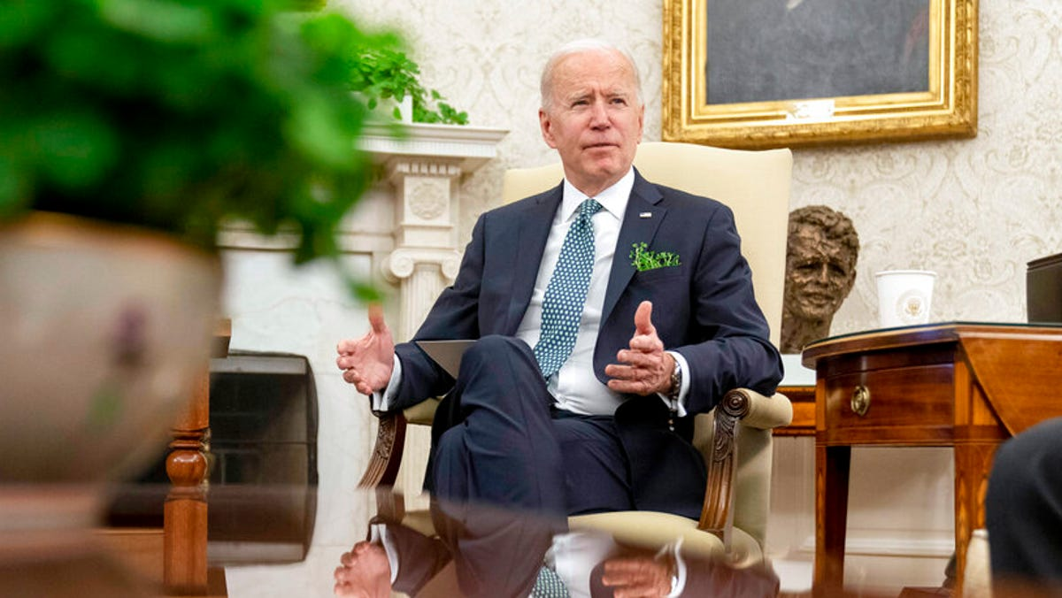 Biden says U.S. to hit 100 million virus shots on Friday 3