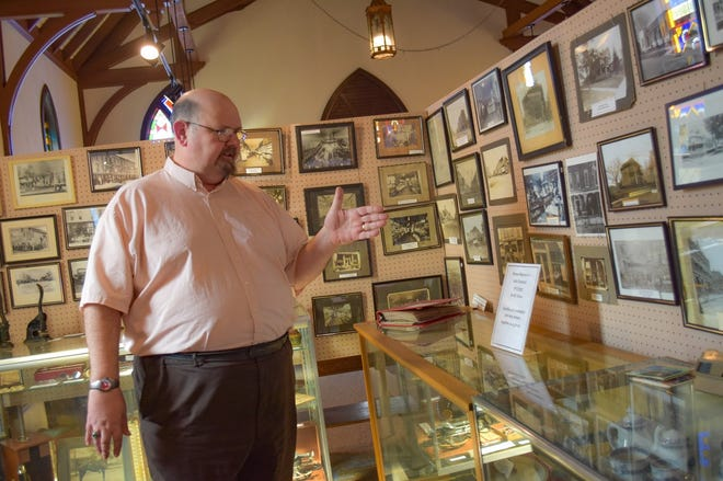 Clyde Museum Curator Gene Smith talks about U.S. Presidential visits to Clyde which happened and were just rumored to happen in this March 11, 2021 photo.