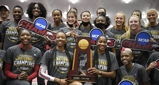 The University of Arkansas, led by junior Krissy Gear, a Fort Myers High School alumnus, won the NCAA Indoor Championship on March 13 in Fayetteville, Arkansas.