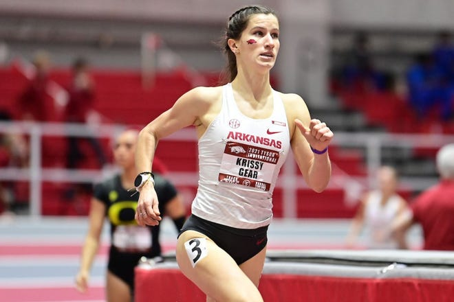 University of Arkansas junior Krissy Gear, a Fort Myers High School alumnus, ran a 4:32.37 to finish second in the mile at the NCAA Indoor Championships on March 13. Gear's performance helped the Razorbacks win their second straight national championship.