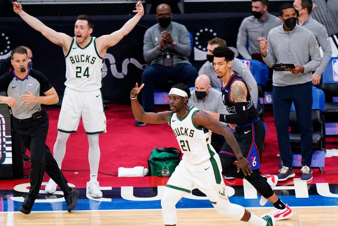Jrue Holiday, who is in his first season with the Milwaukee Bucks, has been influential on and off the court.