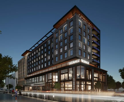 A nine-story, 205-room Marriott Autograph Hotel is planned for just north of Fiserv Forum in downtown Milwaukee.