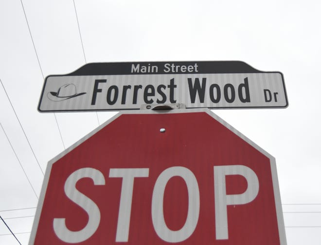 The City of Flippin has added the name of Ranger Boats founder Forrest L. Wood to several blocks of the city's Main Street.