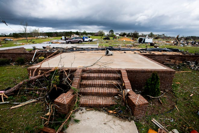 Trent Cox home near the Enterprise community in Chilton County, Ala., was destroyed storms as seen on March 18, 2021.