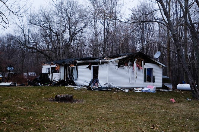 A home in the 3300 block of Manuel Street in Port Huron Township is a total loss after a fire Thursday morning.